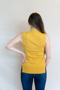 Tennis Club Top, Mustard
