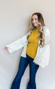 The Willa Cardigan, White