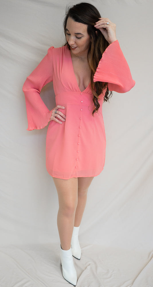 Space Girl Dress, Coral