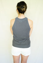 Load image into Gallery viewer, East Coast Tennis Mom Top, Charcoal