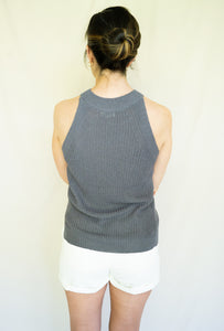 East Coast Tennis Mom Top, Charcoal