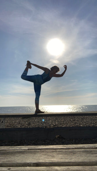 Morning Yoga at the beach with Stephanie Fuller