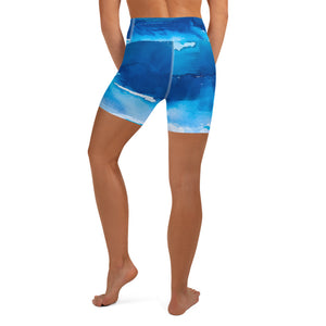 Over the Sea Yoga Shorts - aqayoga  Yoga Shorts UK Yoga Store