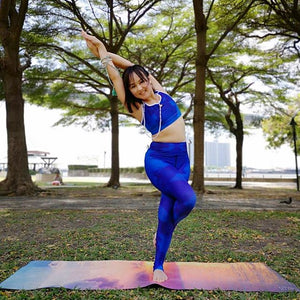 Blue Royale Yoga Pants - aqayoga  YOGA LEGGINGS UK Yoga Store