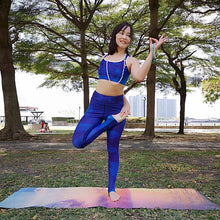 Load image into Gallery viewer, Blue Royale Sports Bra - aqayoga  Sports Bra UK Yoga Store