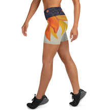 Load image into Gallery viewer, Sunflower Yoga Shorts - aqayoga  Yoga Shorts UK Yoga Store