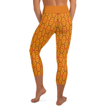Load image into Gallery viewer, Orange Yoga Capri - aqayoga  Yoga Capri UK Yoga Store