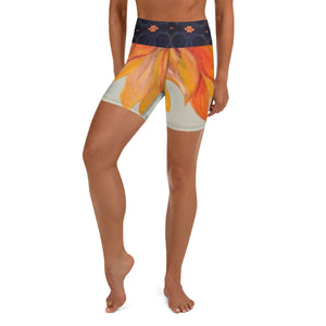 Sunflower Yoga Shorts - aqayoga  Yoga Shorts UK Yoga Store