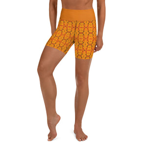 Orange Yoga Shorts - aqayoga  Yoga Shorts UK Yoga Store