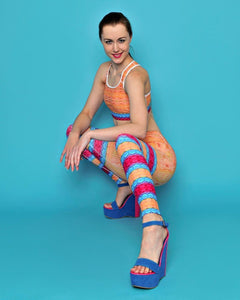Yellow Lollipop Yoga Leggings - aqayoga  YOGA LEGGINGS UK Yoga Store