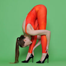 Load image into Gallery viewer, Red Heart Leotard - aqayoga  Leotard UK Yoga Store