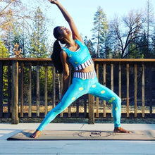 Load image into Gallery viewer, Blue Liquorice Yoga Leggings - aqayoga  YOGA LEGGINGS UK Yoga Store