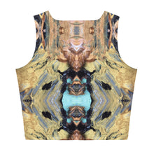 Load image into Gallery viewer, Gold Crop Top - aqayoga  Crop Top UK Yoga Store