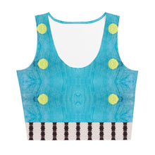 Load image into Gallery viewer, Blue Liquorice Crop Top - aqayoga  Crop Top UK Yoga Store
