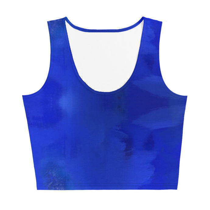 Blue Royale Crop Top - aqayoga  Crop Top UK Yoga Store