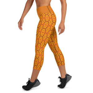 Orange Yoga Capri - aqayoga  Yoga Capri UK Yoga Store