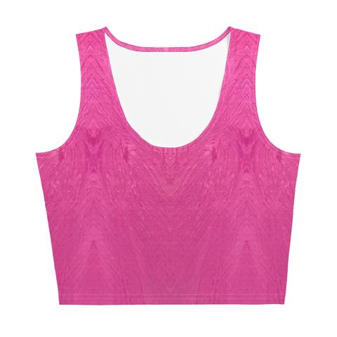 Fuchsia Crop Top - aqayoga  Crop Top UK Yoga Store