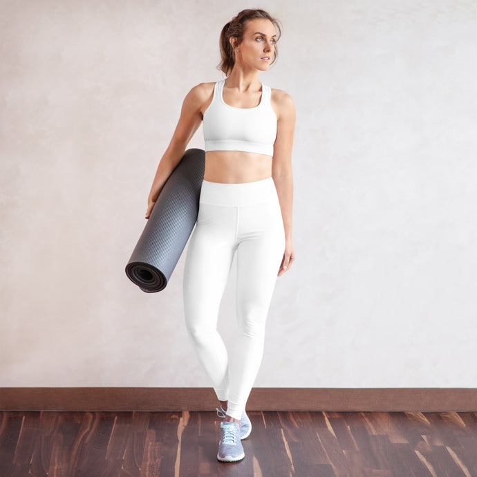 White Yoga Leggings - aqayoga  YOGA LEGGINGS UK Yoga Store
