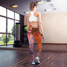Load image into Gallery viewer, Evening Waterlilies Yoga Pants