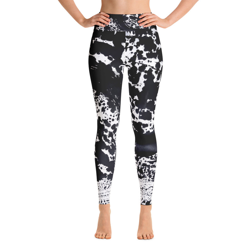 Dalmatian Black Yoga Pants - aqayoga  YOGA LEGGINGS UK Yoga Store