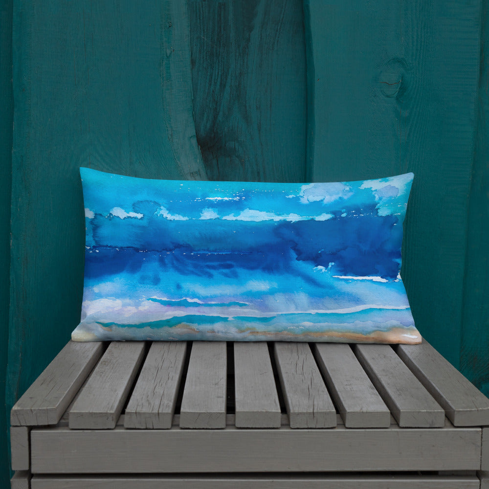 Over The Sea Premium Pillow - aqayoga  pillows UK Yoga Store
