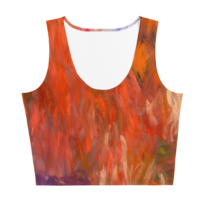 Evening Waterlilies Crop Top - aqayoga  Crop Top UK Yoga Store