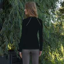 Load image into Gallery viewer, Black Long Sleeve Yoga Top