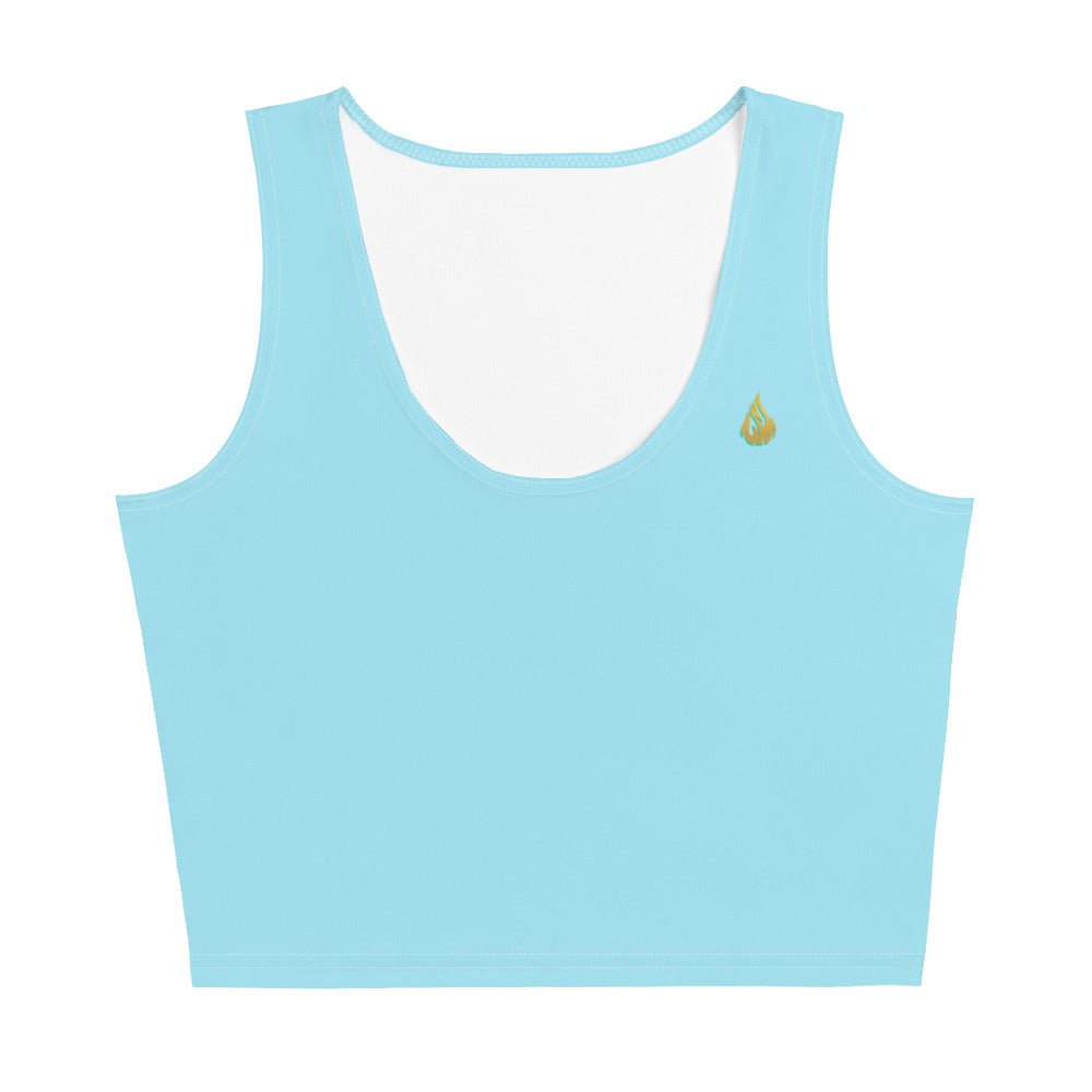 Blue Crop Top - aqayoga  Crop Top UK Yoga Store