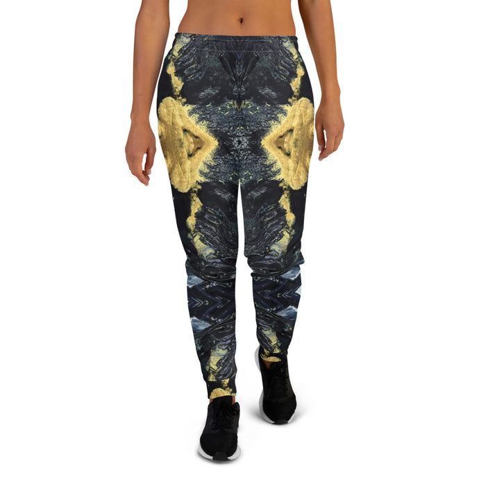 Black and Gold Joggers - aqayoga  Joggers UK Yoga Store