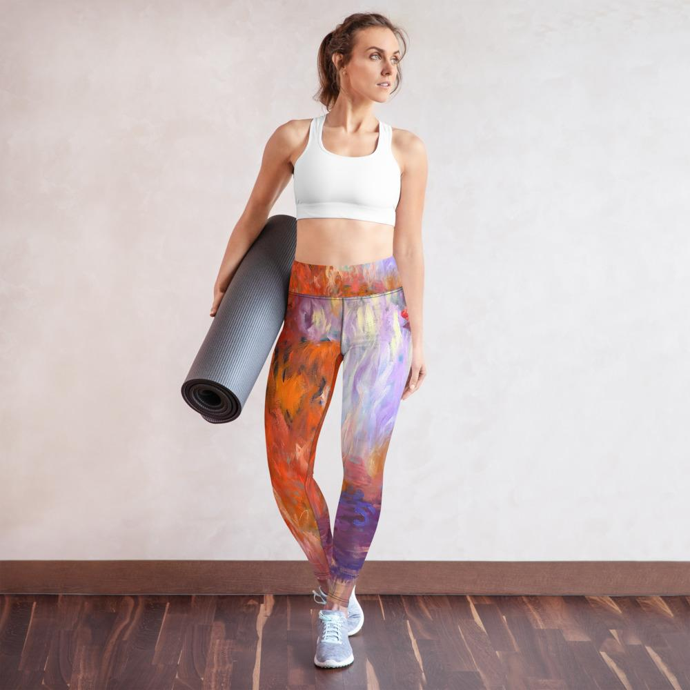 Evening Waterlilies Yoga Pants