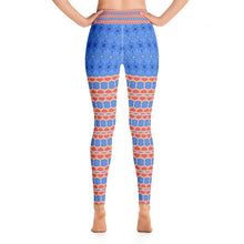 Load image into Gallery viewer, French Blue Yoga Pants - aqayoga  YOGA LEGGINGS UK Yoga Store