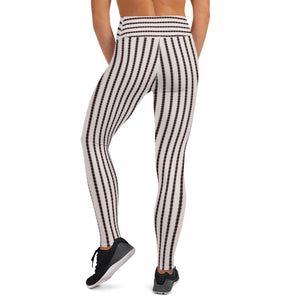 Black and White Stripe Yoga Pants - aqayoga  YOGA LEGGINGS UK Yoga Store