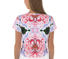 Load image into Gallery viewer, Peony Crop Tee - aqayoga  Crop Top UK Yoga Store