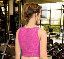 Load image into Gallery viewer, Fuchsia Crop Top - aqayoga  Crop Top UK Yoga Store