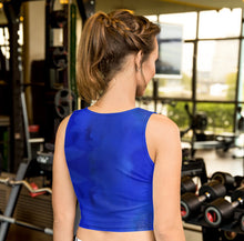 Load image into Gallery viewer, Blue Royale Crop Top - aqayoga  Crop Top UK Yoga Store