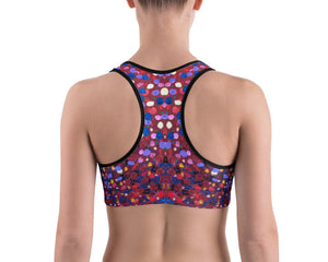 Paint Dot Sports bra - aqayoga  Sports Bra UK Yoga Store