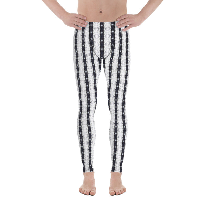 Black and White Stars Men's Leggings - aqayoga  Men's Leggings UK Yoga Store