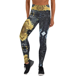 Black and Gold Yoga Pants - aqayoga  YOGA LEGGINGS UK Yoga Store