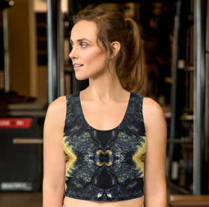 Black and Gold Crop Top - aqayoga  Crop Top UK Yoga Store