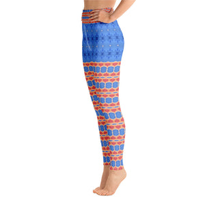 French Blue Yoga Pants - aqayoga  YOGA LEGGINGS UK Yoga Store