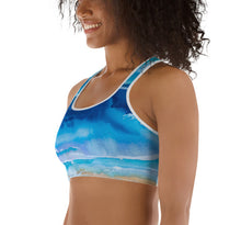 Load image into Gallery viewer, Over the Sea Sports bra - aqayoga  Sports Bra UK Yoga Store