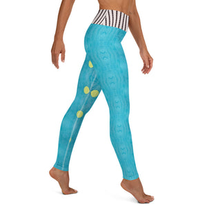 Blue Liquorice Yoga Leggings - aqayoga  YOGA LEGGINGS UK Yoga Store