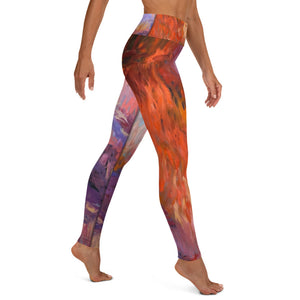 Evening Waterlilies Yoga Pants - aqayoga  YOGA LEGGINGS UK Yoga Store