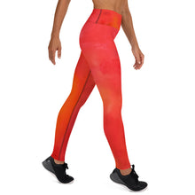 Load image into Gallery viewer, Red Love Yoga Leggings - aqayoga  YOGA LEGGINGS UK Yoga Store