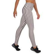 Load image into Gallery viewer, Black and White Stripe Yoga Pants - aqayoga  YOGA LEGGINGS UK Yoga Store