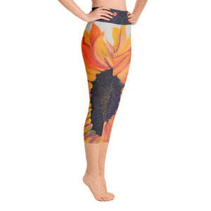 Sunflower Yoga Capri Leggings