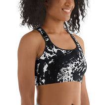 Load image into Gallery viewer, Dalmatian Black Sports Bra - aqayoga  Sports Bra UK Yoga Store