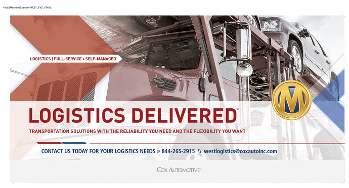 Manheim Logistics WEST Banner - 72