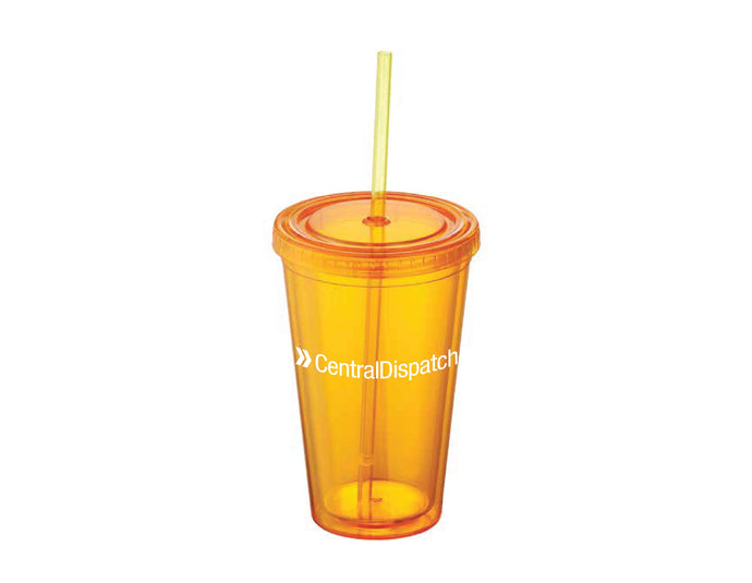 Central Dispatch Orange Sedici Tumbler 16oz