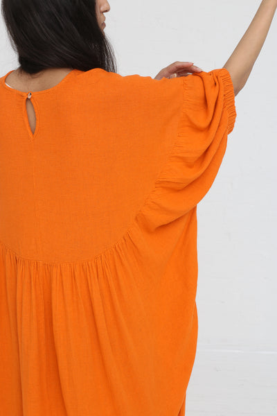 Black Crane Xiao Dress in Orange on model view back